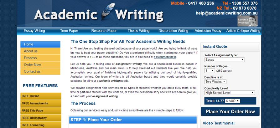 AcademicWriting.com.au quality
