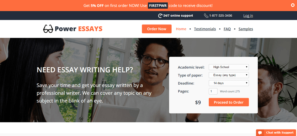 Power-Essays.com navigation
