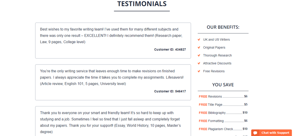 Power-Essays.com testimonials