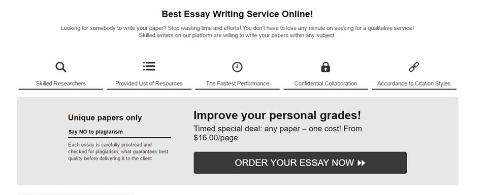 Essays.Essaysamurai.co.uk services