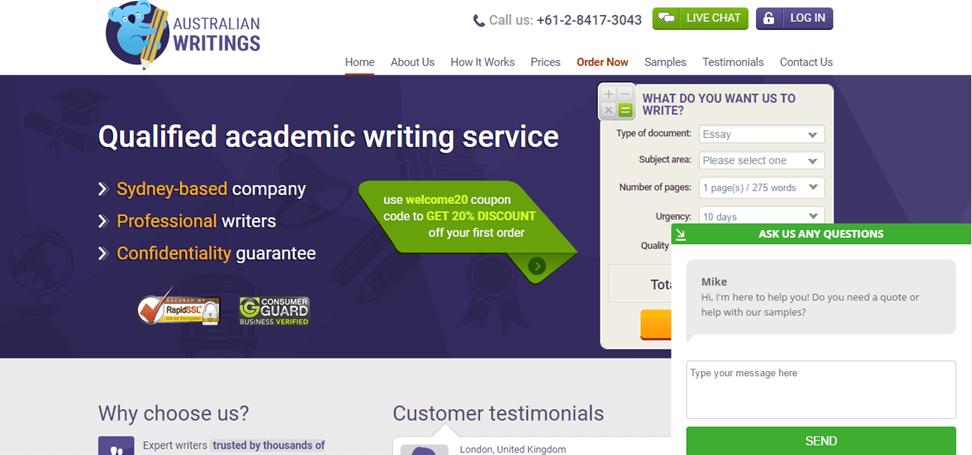 Rating for website custom writings