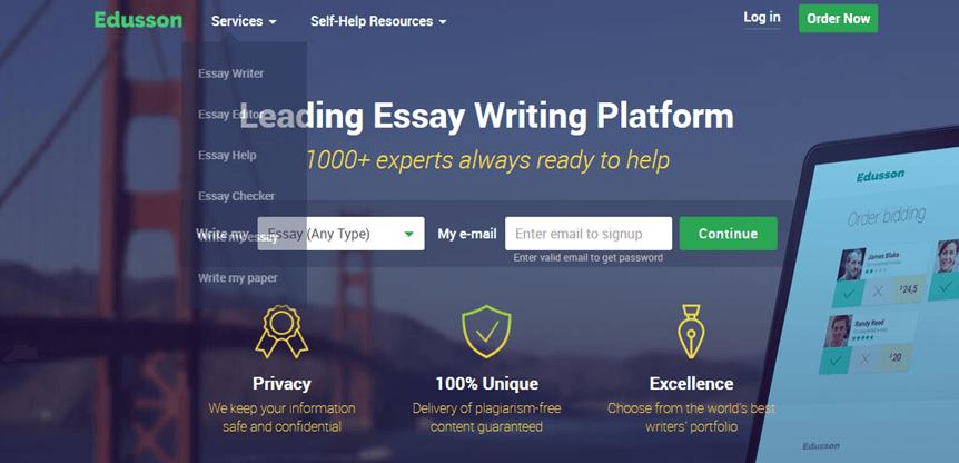 Edusson.com services