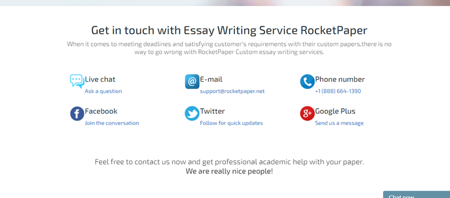 rocketpaper.net customer support