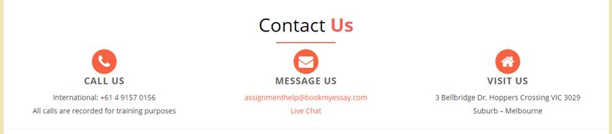 bookmyessay.com customer-service