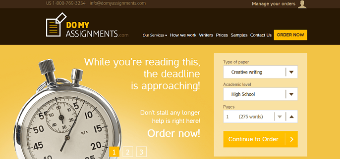 domyassignment.com website
