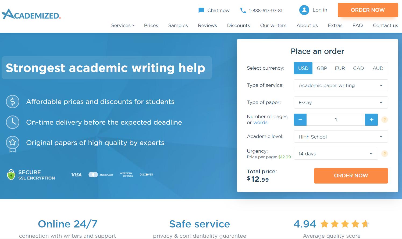 academized.com website