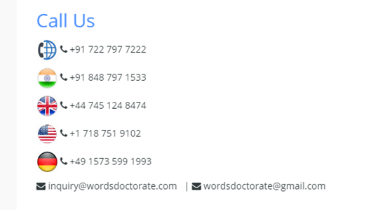 wordsdoctorate.com customer service
