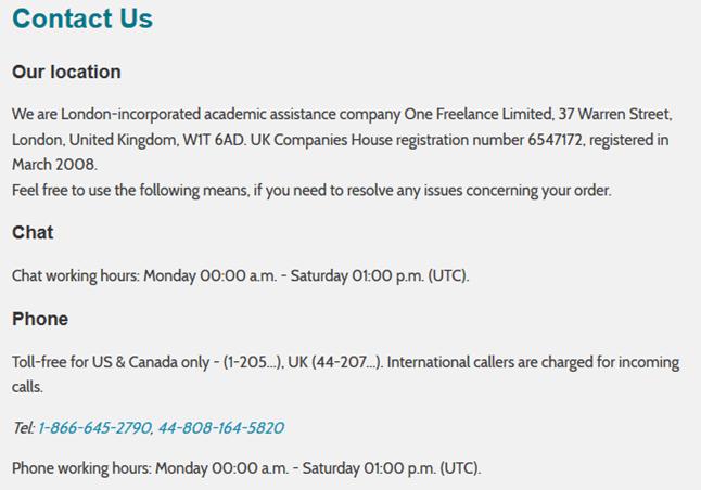 writingcities.net customer service