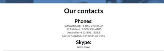 abcessays.com customer service