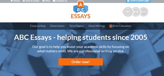 abcessays.com website
