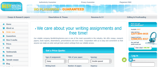 bestwritingservice.com website