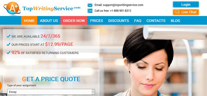 topwritingservice.com website