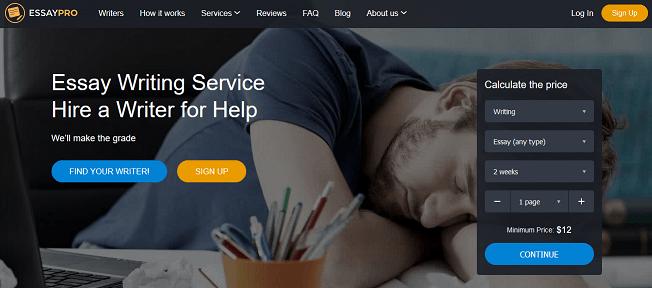 essaypro.com website