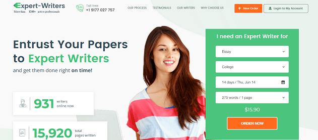 expert-writers.net website