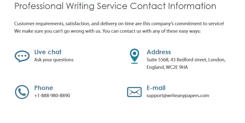 writeanypapers.com customer service