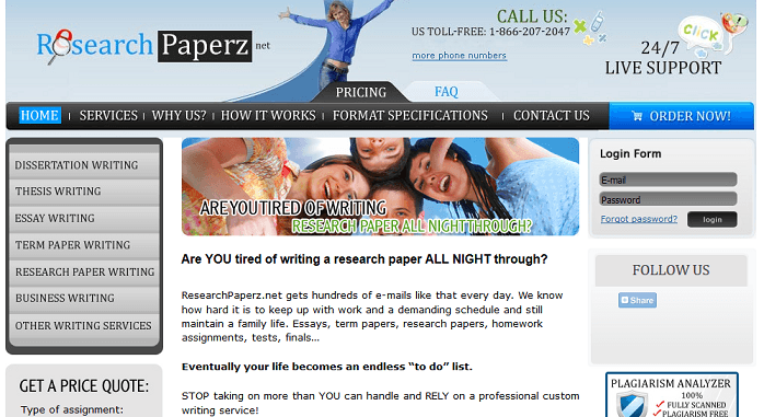 researchpaperz.net website