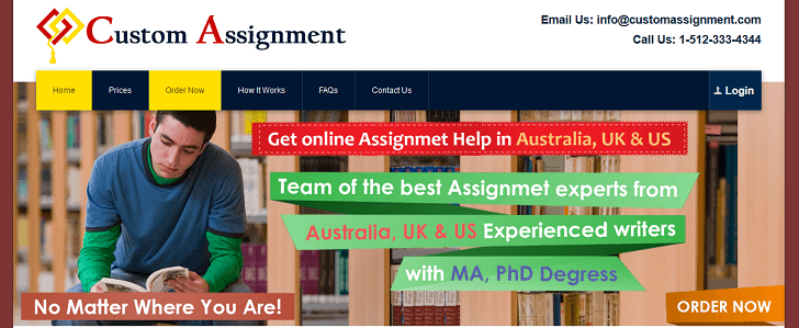 customassignment.com website