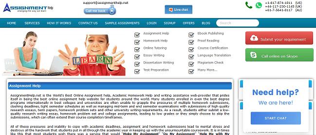 assignmenthelp.net website