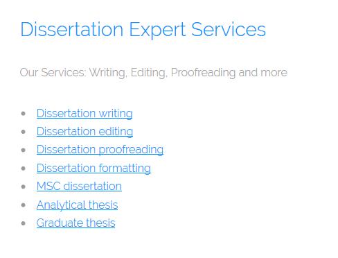 dissertationexpert.org services
